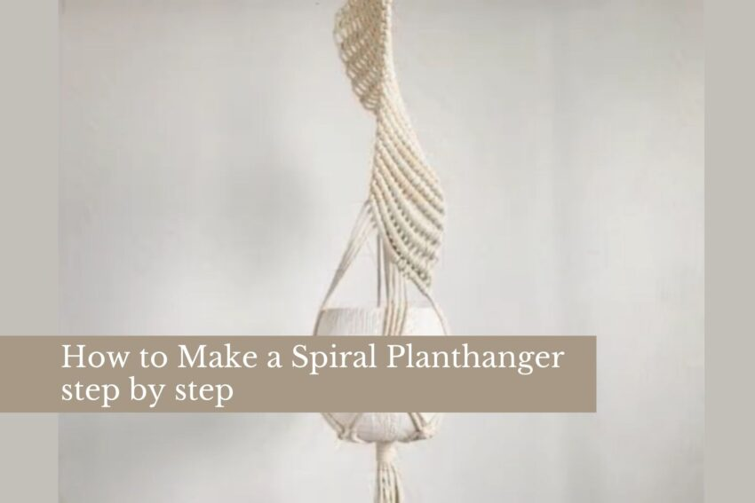 How to Make a Spiral Planthanger step by step