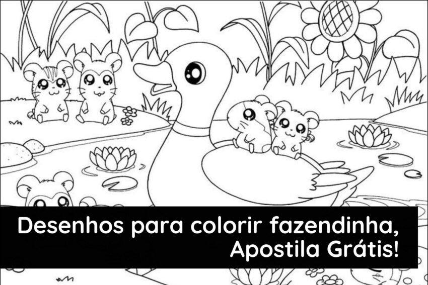 Desenhos para colorir fazendinha, Apostila Gratuita!
